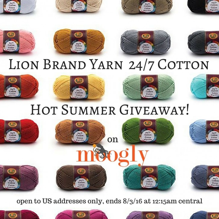 lion brand 247 cotton giveaway