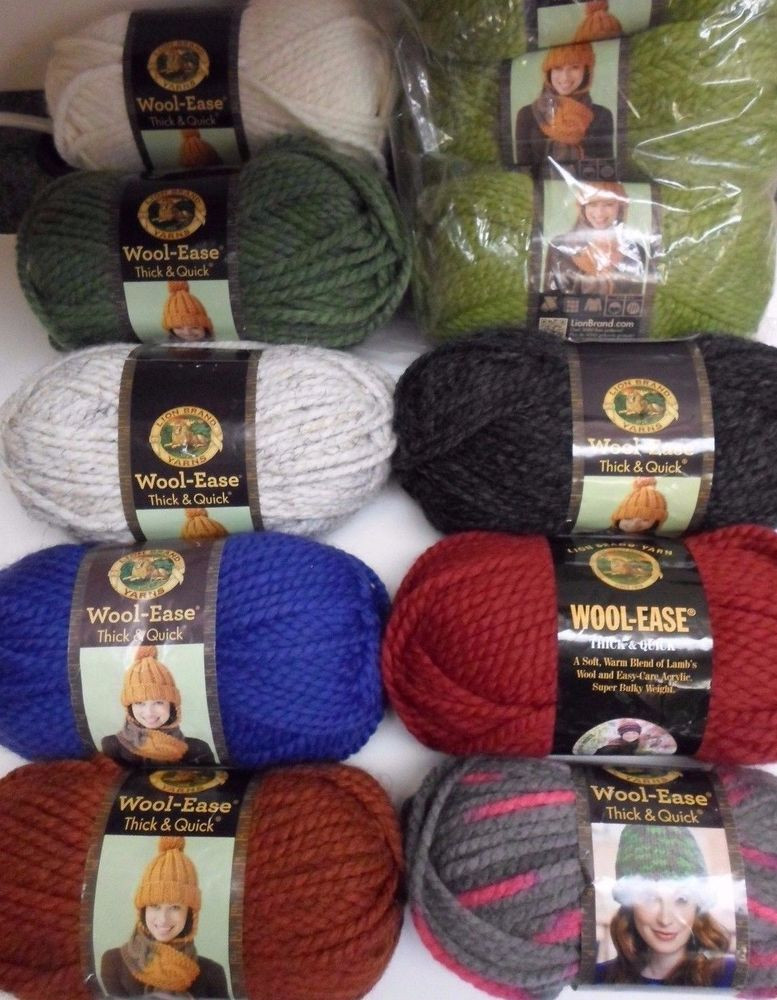 Lion Brand Yarn Thick and Quick Best Of Lion Brand Wool Ease Thick & Quick Yarn Pick A Color 6 Oz Of Luxury 44 Models Lion Brand Yarn Thick and Quick