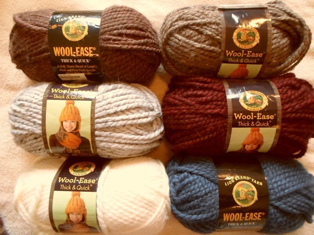 Lion Brand Yarn Thick and Quick Lovely Lion Brand Wool Ease Thick & Quick Yarn Pick A Color 6 Oz Of Luxury 44 Models Lion Brand Yarn Thick and Quick