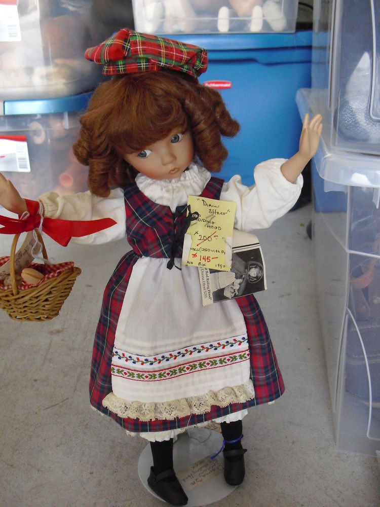 Little Red Riding Hood Doll Awesome Rare Porcelain and Cloth Dianna Effner Little Red Riding Of Delightful 49 Models Little Red Riding Hood Doll