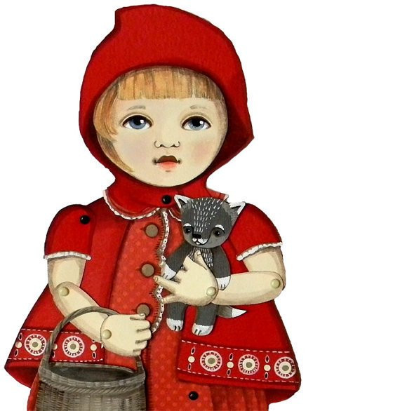 Items similar to Little Red Riding Hood Articulated Paper
