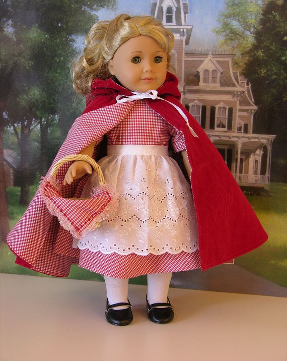 Little Red Riding Hood Doll Fresh Little Red Riding Hood Costume for American Girl Doll Of Delightful 49 Models Little Red Riding Hood Doll