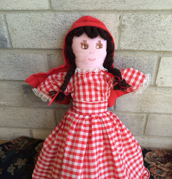 Little Red Riding Hood Doll Luxury Little Red Riding Hood Story Book Doll by Lauratrev1 On Etsy Of Delightful 49 Models Little Red Riding Hood Doll