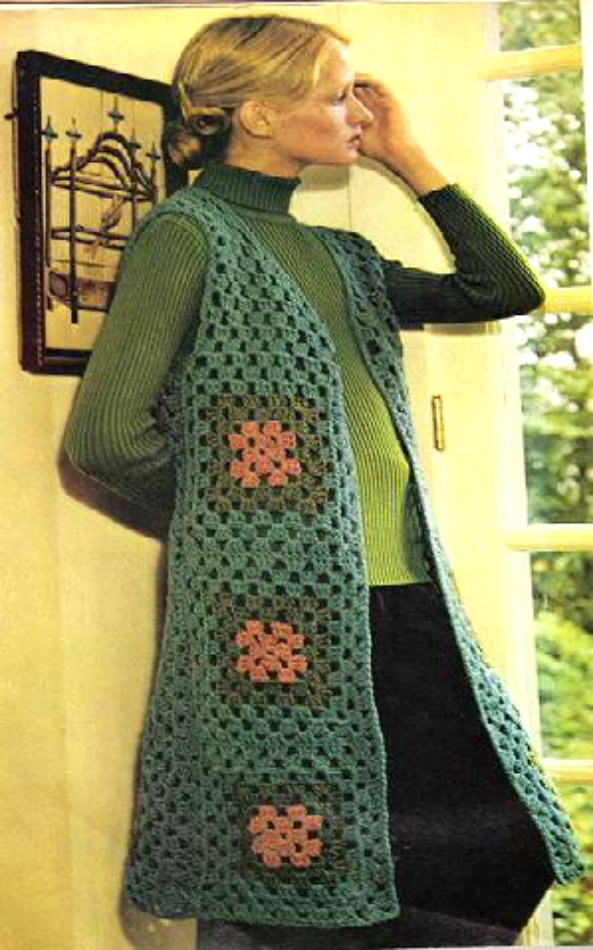 Long Crochet Vest Awesome Long Tailored Vest Vintage Crochet Pdf Pattern by Of Beautiful 46 Ideas Long Crochet Vest