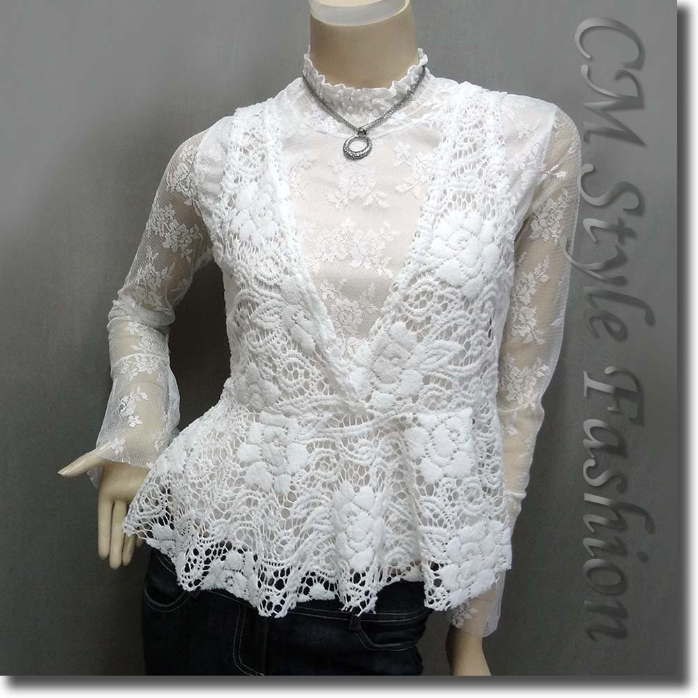 Long Crochet Vest Awesome Two Pieces Lace Turtleneck Long Sleeve top with Crochet Of Beautiful 46 Ideas Long Crochet Vest