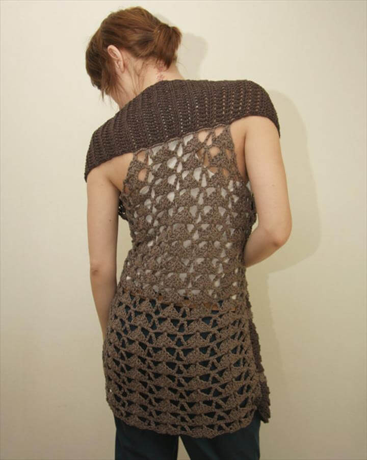 Long Crochet Vest New 20 Stylish Crochet Sweater Vest Design Of Beautiful 46 Ideas Long Crochet Vest
