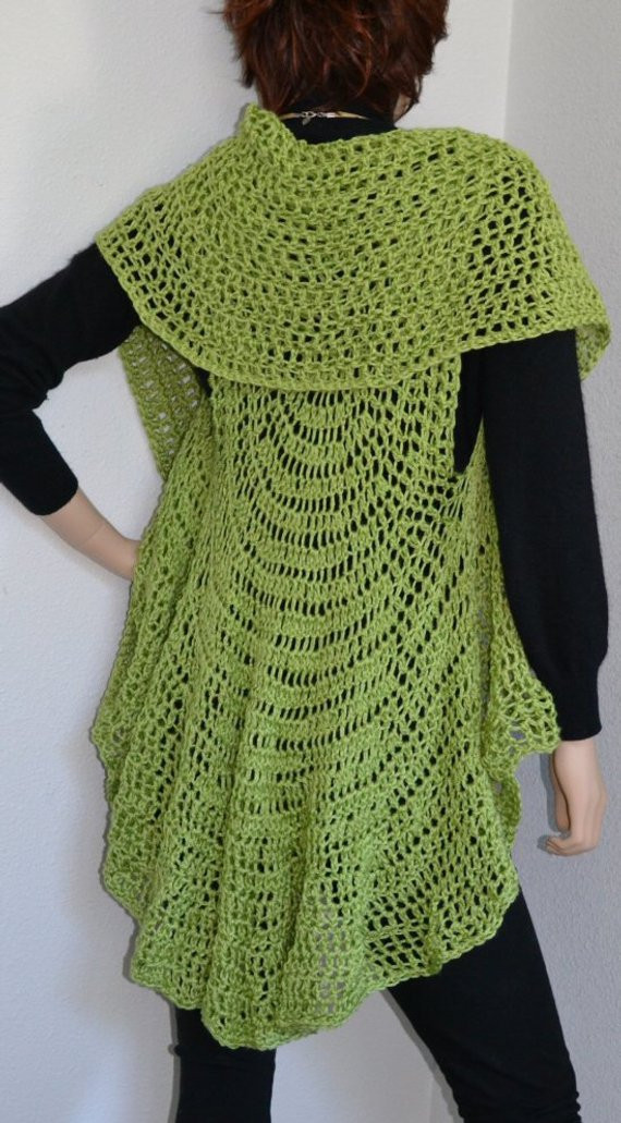 Long Crochet Vest New Taking orders for Xl Long Circular Vest by Croknits On Etsy Of Beautiful 46 Ideas Long Crochet Vest
