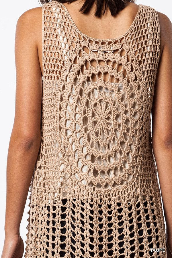 Long Crochet Vest New the Urban Hippie Sleeveless Long Crochet Fringed Vest Of Beautiful 46 Ideas Long Crochet Vest