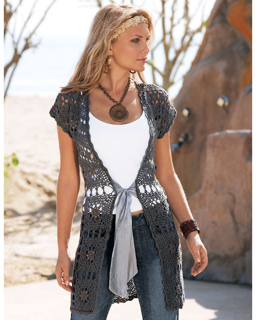 Long Crochet Vest Pattern Unique Outstanding Crochet Free Notes and Charts for Crochet Of Attractive 35 Pictures Long Crochet Vest Pattern