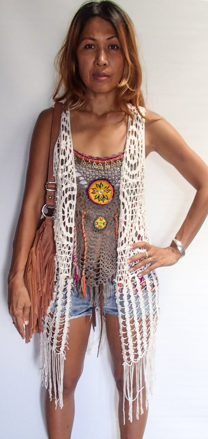 Long Crochet Vest Unique Bohemian Webbed Crochet Long Vest with Fringe Black by Of Beautiful 46 Ideas Long Crochet Vest