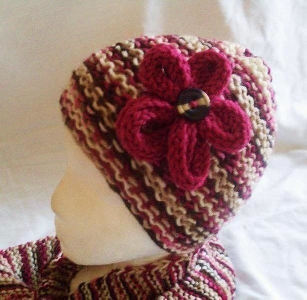 Loom Knit Hat Fresh Cherrychip Hat and Scarf · How to Make A Floral Beanie Of Lovely 45 Ideas Loom Knit Hat