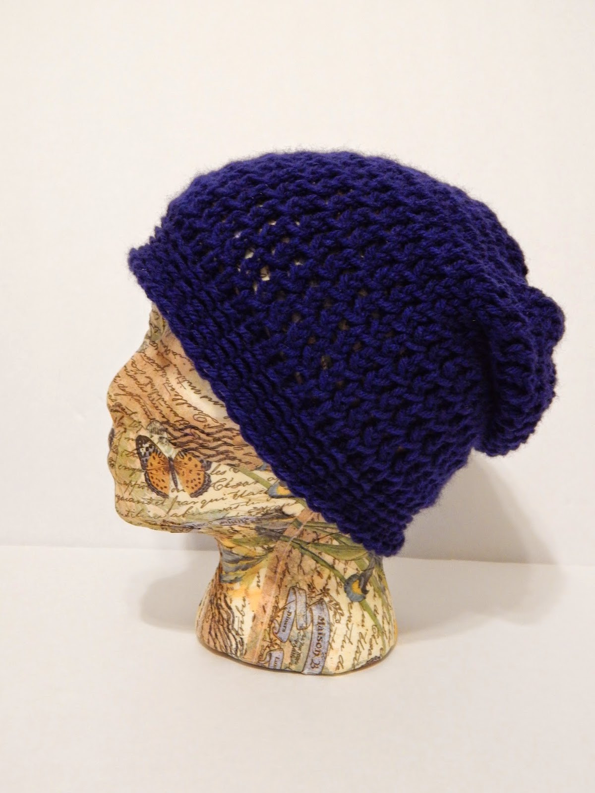 Jovial Knits Loom Knit Slouchy Hat Bea s Easy Beanie