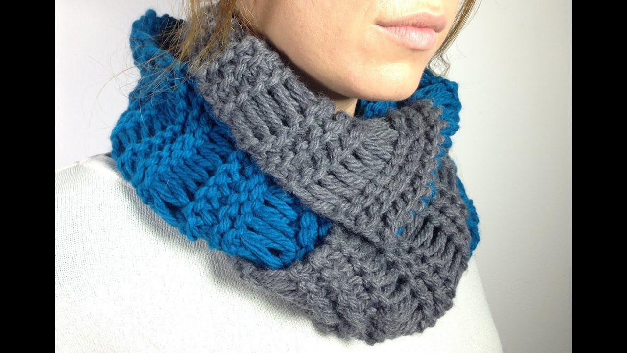 Loom Knitting Scarf Fresh How to Loom Knit An Infinity Scarf In Elongated Stitch Of Brilliant 41 Pics Loom Knitting Scarf