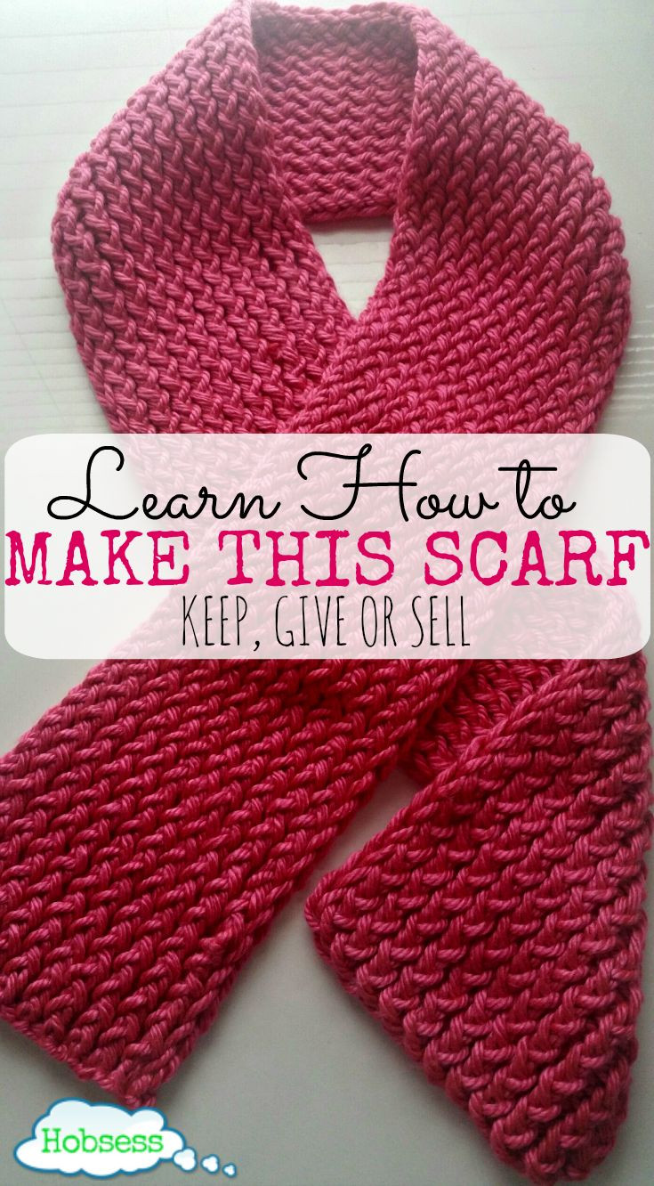 How to Knit a Really Easy Scarf for the Reluctant Crafter