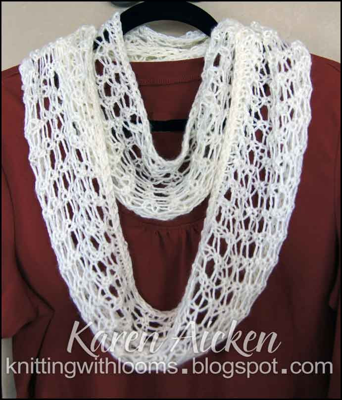 Loom Knitting Scarf Lovely Knitting with Looms Finished Lacy Infinity Scarf Of Brilliant 41 Pics Loom Knitting Scarf
