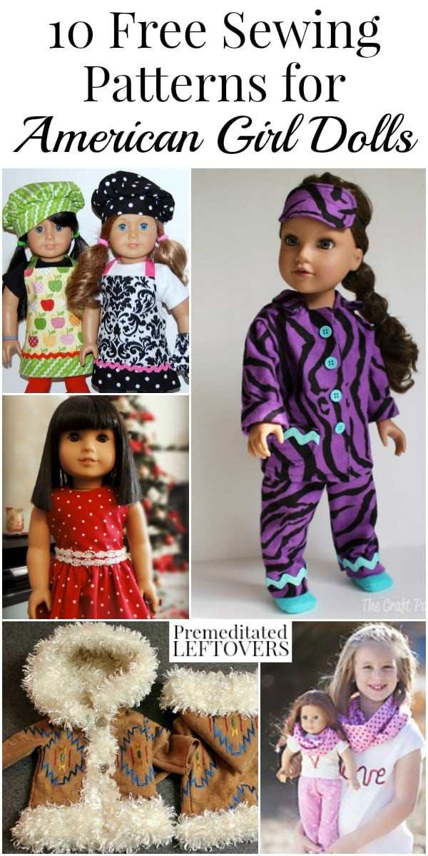 10 American Girl Doll Clothes Free Sewing Patterns