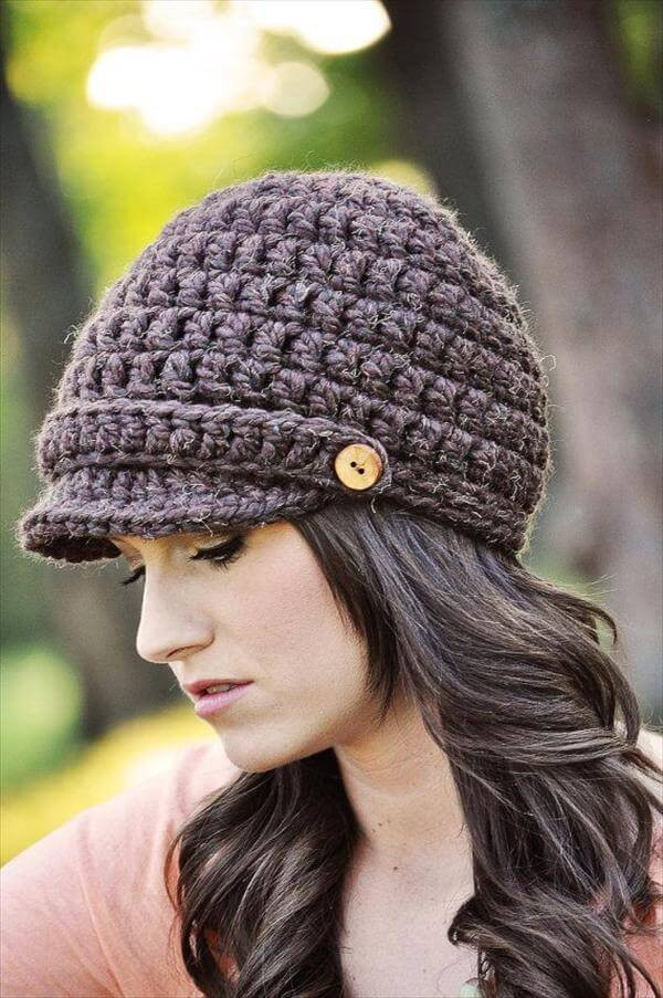 Lovely 10 Easy Crochet Hat Patterns for Beginners Crochet Hat with Brim Pattern Of Contemporary 46 Photos Crochet Hat with Brim Pattern
