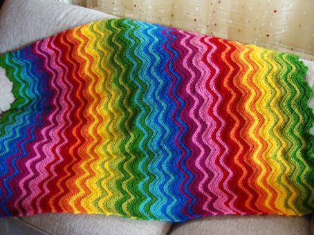 Lovely 1000 Images About Rainbow Crochet Blankets On Pinterest Rainbow Crochet Blanket Of Great 40 Photos Rainbow Crochet Blanket