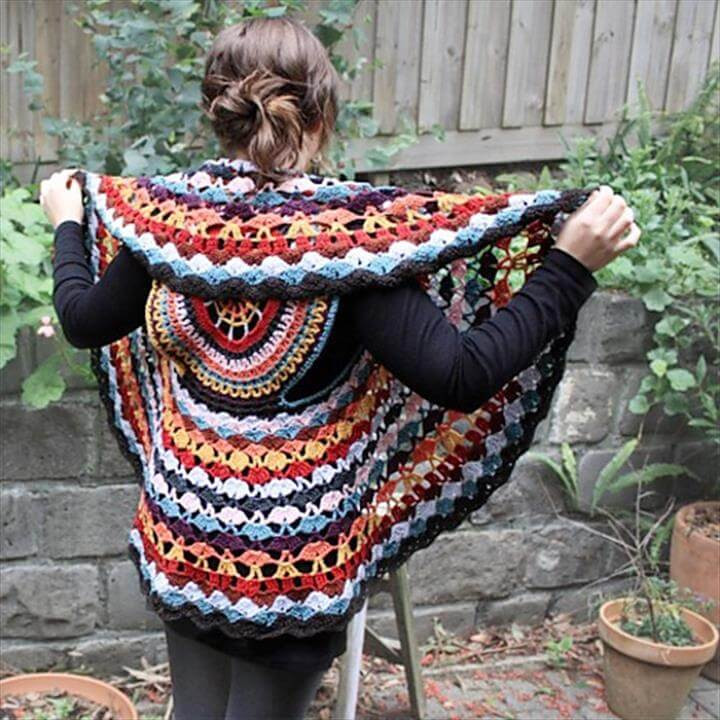 Lovely 12 Free Crochet Patterns for Circular Vest Jacket Crochet Circular Vest Of Delightful 46 Models Crochet Circular Vest