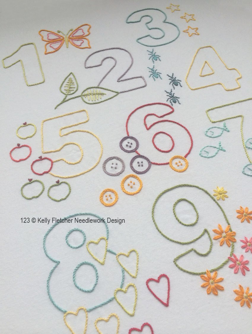 Lovely 123 Modern Numbers Hand Embroidery Pattern Modern Embroidery Modern Embroidery Patterns Of Brilliant 49 Pics Modern Embroidery Patterns