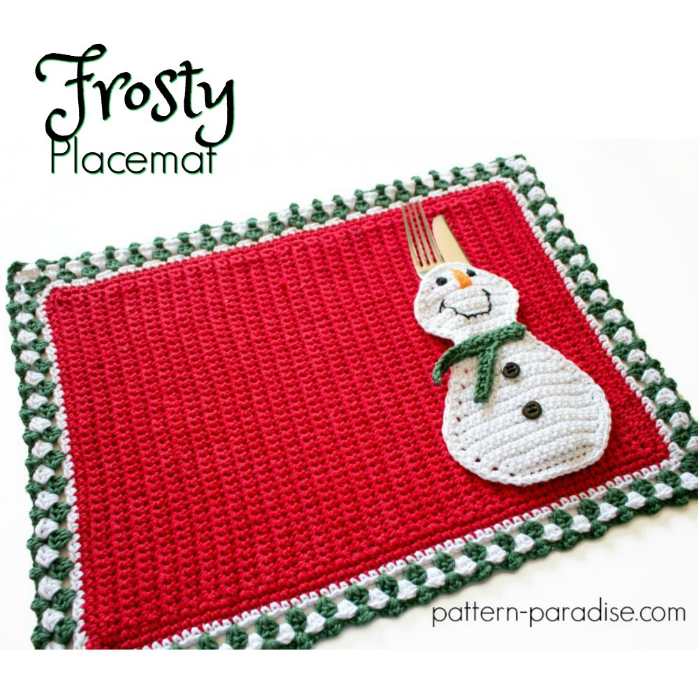 12WeeksChristmasCAL Frosty Placemat