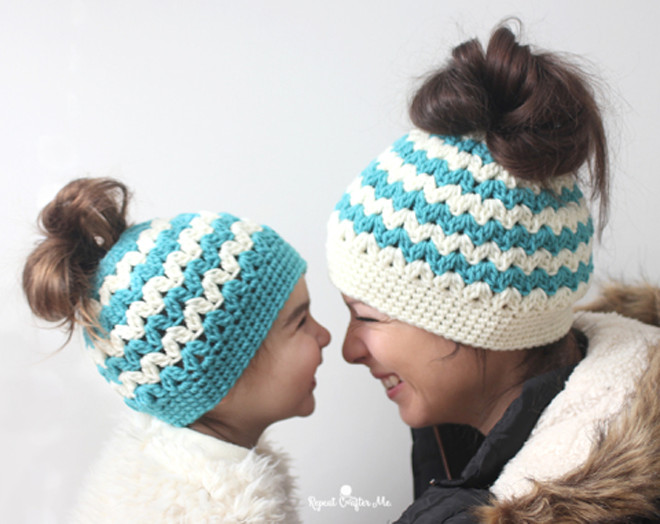 Lovely 13 Unique Ponytail Hat Patterns – these Knit & Crochet Messy Bun Beanie Knit Pattern Of Delightful 48 Pics Messy Bun Beanie Knit Pattern