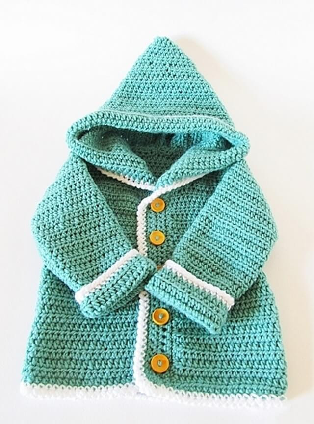 Lovely 15 Diy Crocheted Baby Accessories Crochet Hooded Sweater Pattern Of Great 48 Pictures Crochet Hooded Sweater Pattern