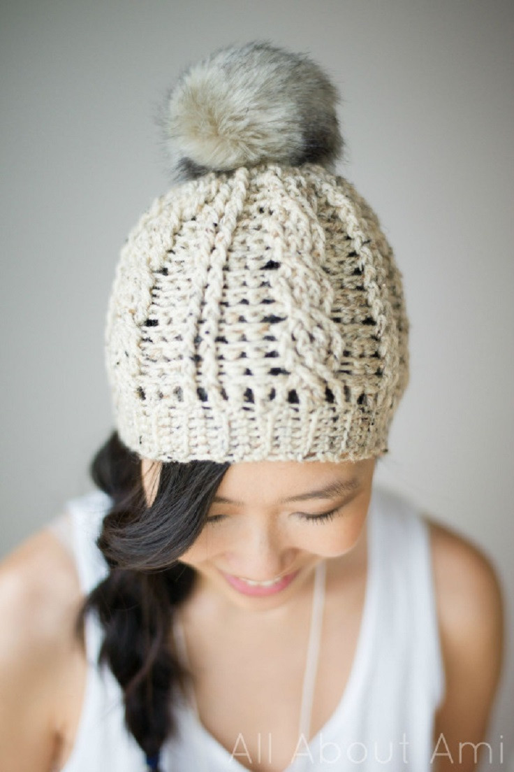Lovely 15 Easy and Free Crochet Patterns to Stay Warm This Winter Free Crochet Beanie Hat Pattern Of Amazing 48 Images Free Crochet Beanie Hat Pattern