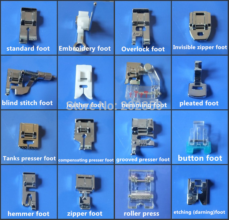 Lovely 16 Pcs Different Presser Foot for Multi Function Household Singer Sewing Machine Feet Of Amazing 50 Pics Singer Sewing Machine Feet