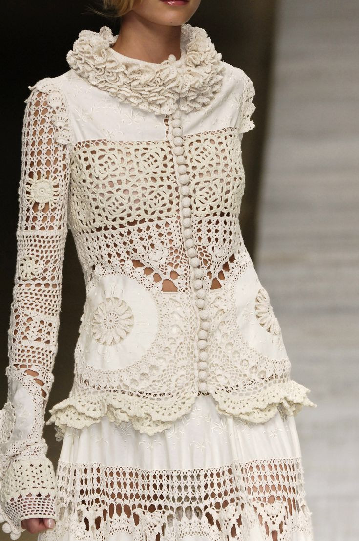 """Lovely 1655 Best Images About Knitted """"haute Couture"""" On Crochet Fashion Of Adorable 43 Photos Crochet Fashion"""
