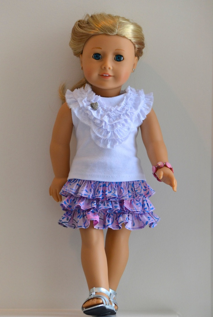 17 Best images about american girl doll ruffled skirts on