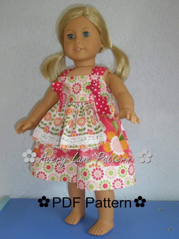 Lovely 18 Inch Doll Clothes Pattern Apron Knot Dress Boutique Sewing Free American Girl Doll Patterns Of Top 44 Pics Free American Girl Doll Patterns