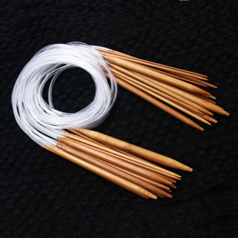 Lovely 18 Sizes 40cm 120cm Double Point Carbonized Circular Circular Needles Of Attractive 40 Models Circular Needles