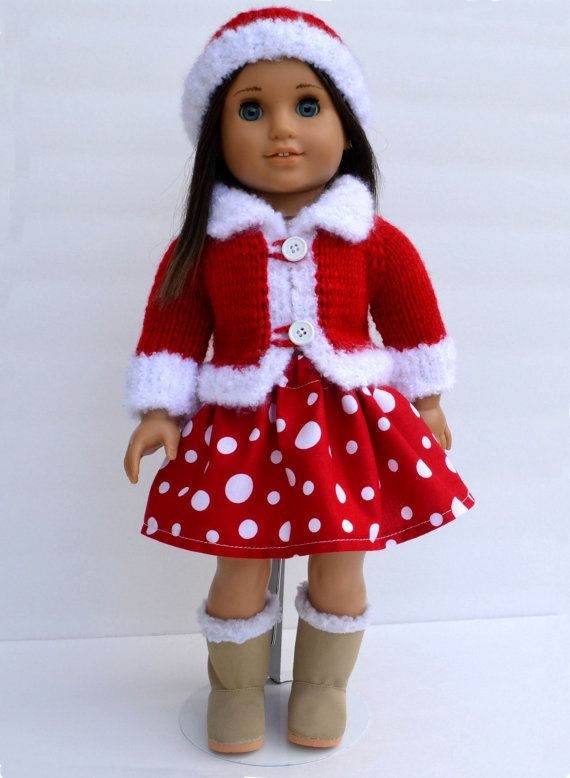 "Lovely 18"" American Girl Doll Handknit 3 Pcs Christmas Sweater American Girl Doll Christmas Outfits Of Wonderful 40 Ideas American Girl Doll Christmas Outfits"