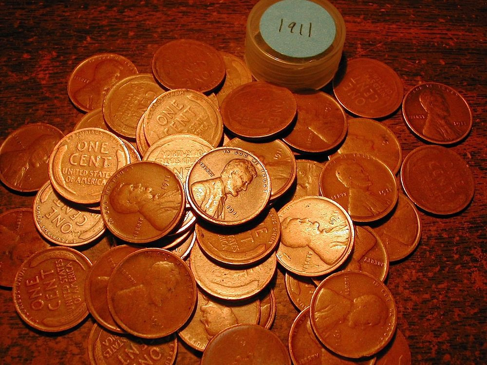 Lovely 1911 P Lincoln Wheat Cent Penny Roll 50 Coins Wheat Penny Rolls Of Awesome 43 Photos Wheat Penny Rolls