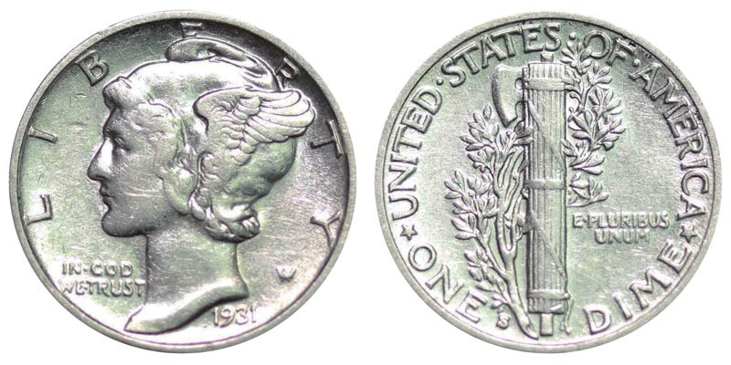 Lovely 1931 S Mercury Dimes Winged Liberty Silver Dime Value and Mercury Dime Prices Of Superb 49 Ideas Mercury Dime Prices