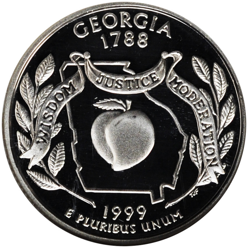Lovely 1999 Georgia State Quarter State Quarter Set Value Of New Washington 50 State Quarters Program 1999 2008 State Quarter Set Value