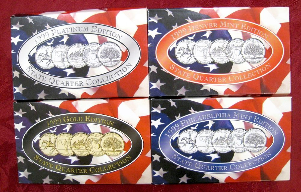 Lovely 1999 State Quarter Collection Platinum Gold Philadelphia Us State Quarter Collection Of Charming 49 Ideas Us State Quarter Collection