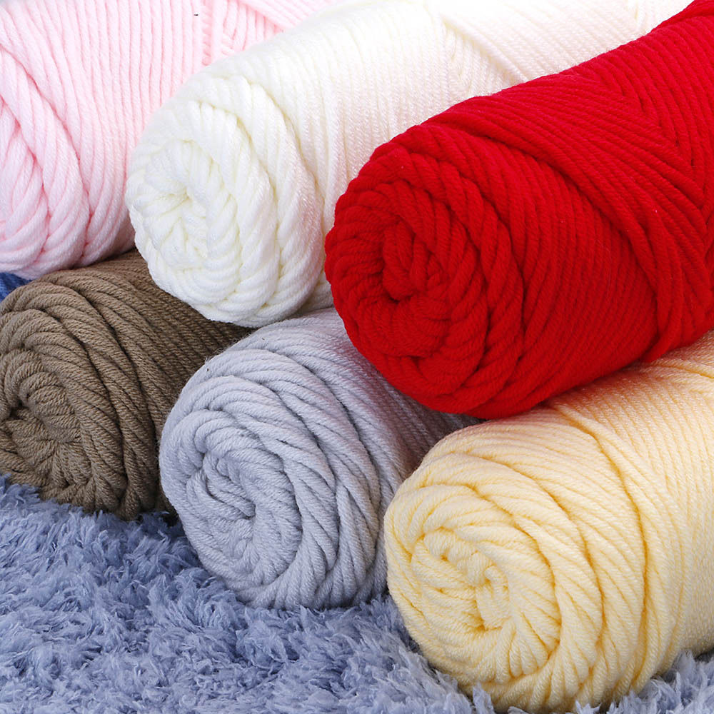 1Pc Thick Yarn For Knitting Threads Hand Knit Cotton