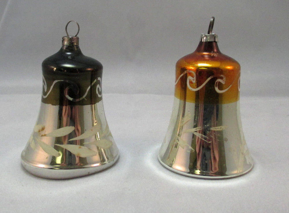 Lovely 2 Vintage Hand Painted Glass Bell Christmas ornaments Vintage Glass ornaments Of New 48 Ideas Vintage Glass ornaments