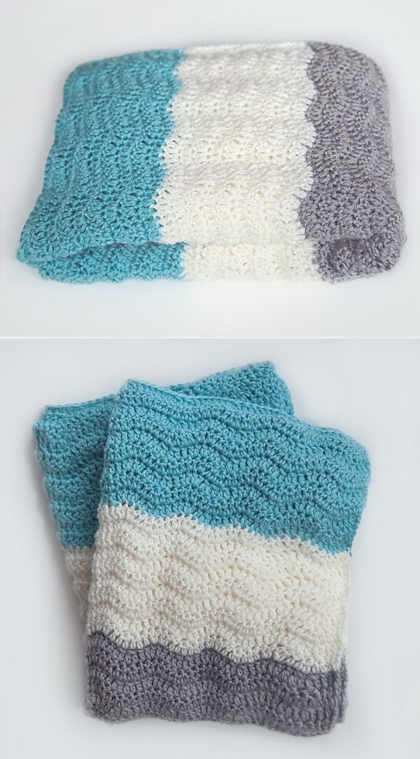 Lovely 20 Awesome Crochet Blankets with Tutorials and Patterns Crochet Baby Blanket Tutorial Of Top 46 Pics Crochet Baby Blanket Tutorial