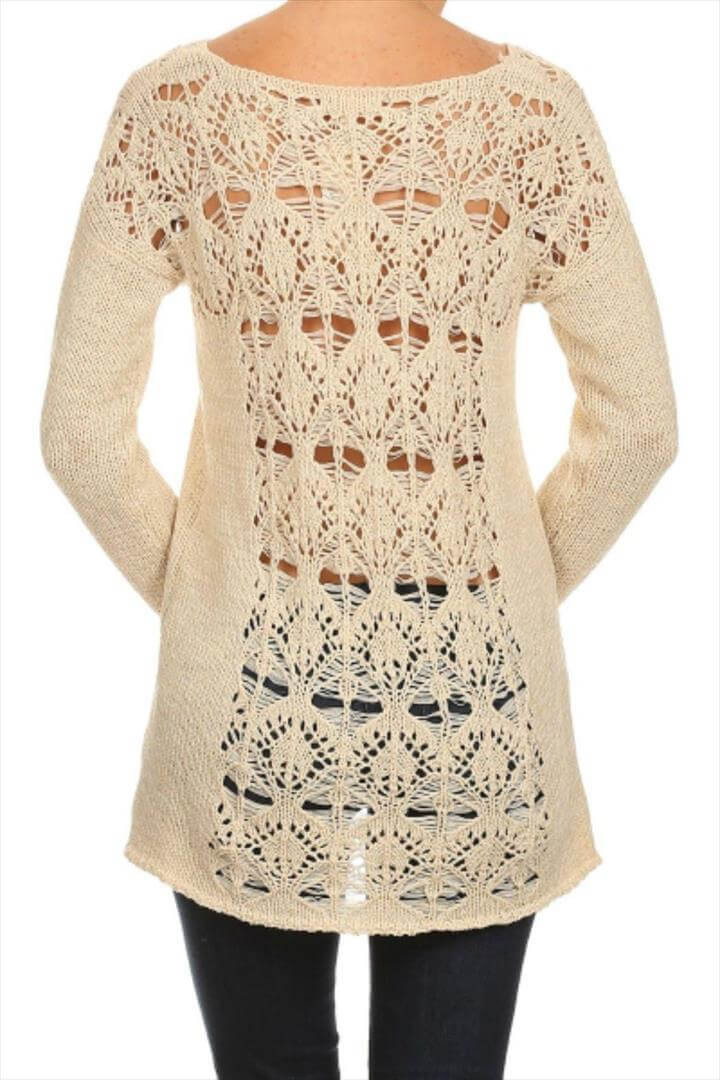 Lovely 20 Awesome Crochet Sweaters for Women S Crochet Sweater Dresses Of Great 44 Photos Crochet Sweater Dresses