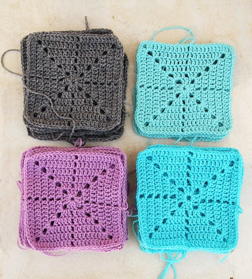 20 Easy Crochet Squares You Can Use To Make Blankets