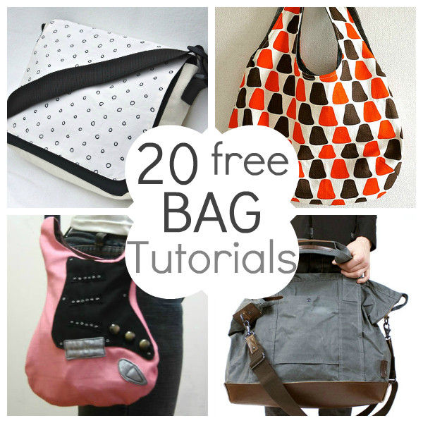Lovely 20 Free Beautiful Bag Tutorials and Patterns Project Bag Pattern Of Incredible 47 Models Project Bag Pattern