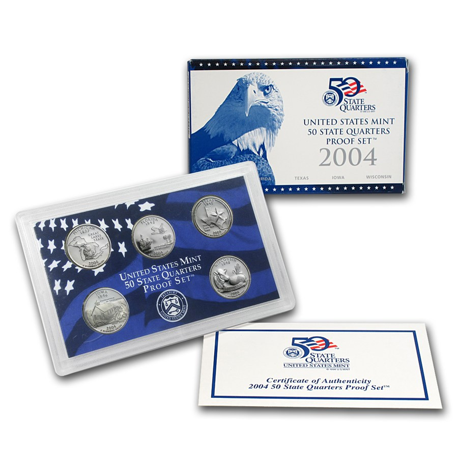 Lovely 2004 U S Proof Set Quarters Ly State Quarter Set Of Superb 44 Pictures State Quarter Set