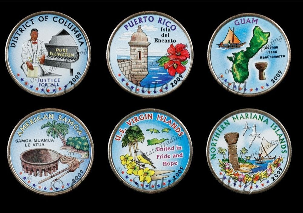 Lovely 2009 Plete Set Colorized State Quarters D Mint 6 Us State Quarter Collection Of Charming 49 Ideas Us State Quarter Collection