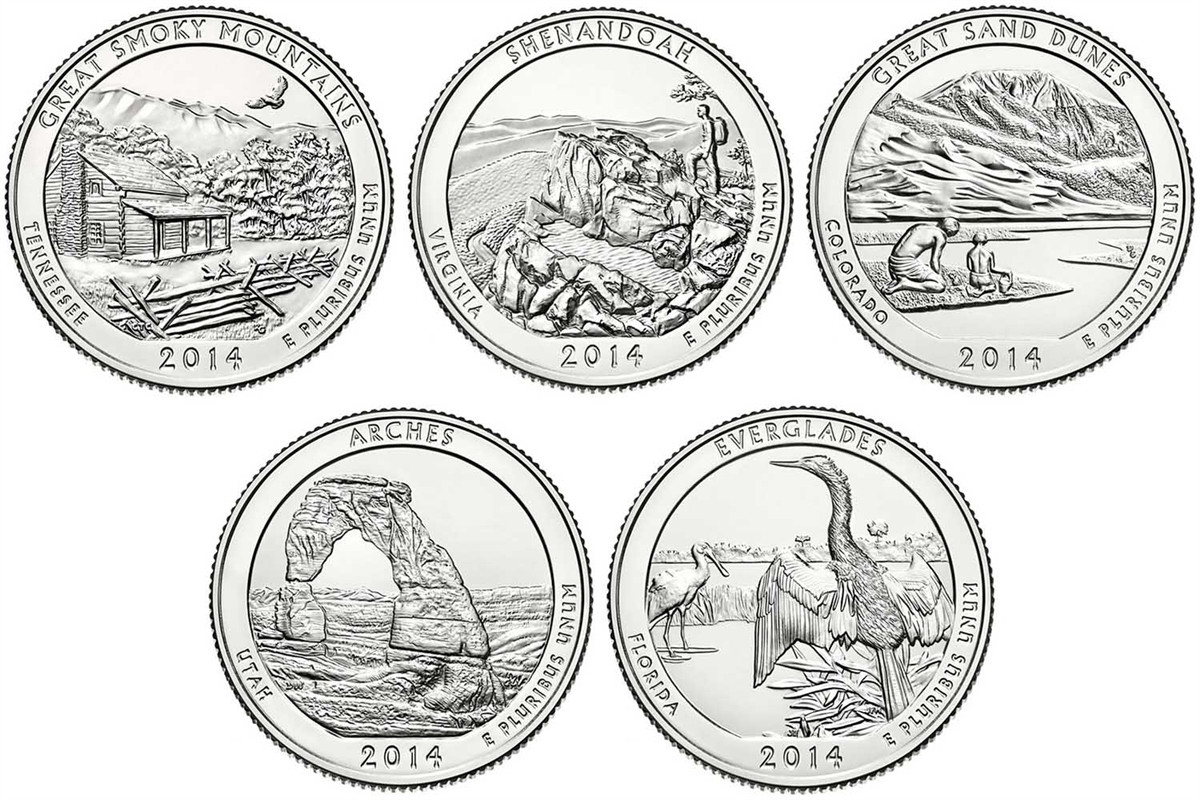 Lovely 2014 D Everglades National Park Quarter Value America State Quarter Set Value Of New 2007 P & D United States Mint Uncirculated Coin Set State Quarter Set Value