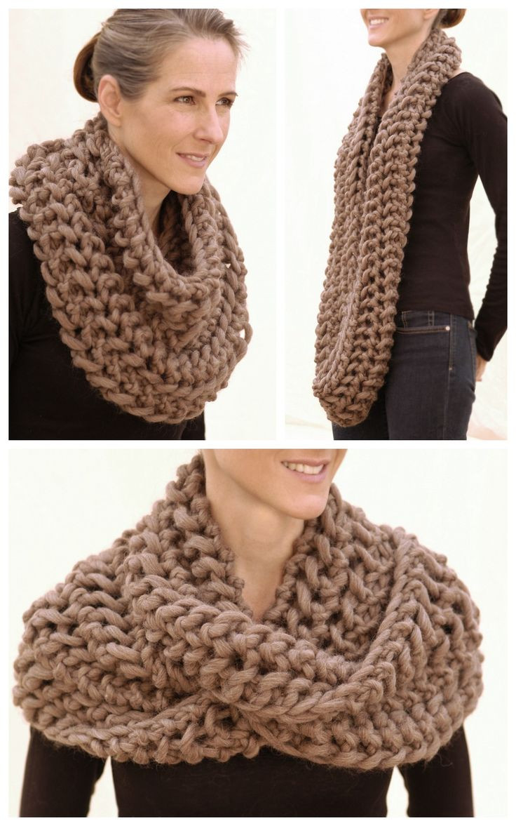 Lovely 21 Ways to Wear An Infinity Scarf Chunky Knit Scarf Pattern Of Adorable 50 Ideas Chunky Knit Scarf Pattern