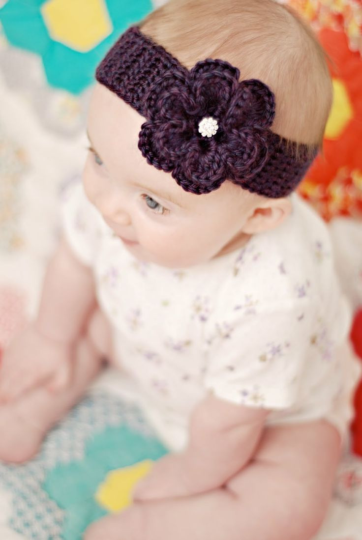 Lovely 22 Best Images About Baby Headbands On Pinterest Crochet Headband for Babies Of Charming 46 Models Crochet Headband for Babies
