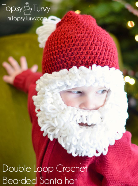 Lovely 25 Free Crochet Santa Hat and Christmas theme Santa Hat Pattern Of Awesome Items Similar to Knitting Pattern Santa Christmas Hat or Santa Hat Pattern